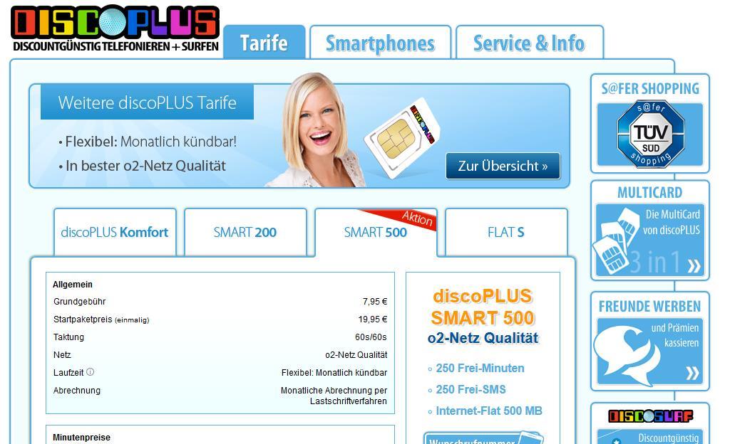 discoPLUS-Homepage