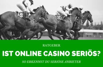 Sind Online Casinos seriös?