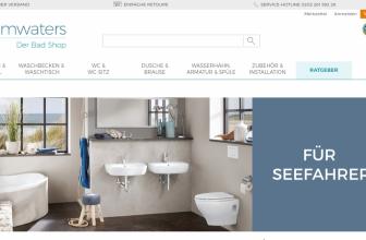 Calmwaters.de: Ein Badshop mit Augenmerk auf Qualität