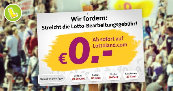 Lotto Bearbeitungsgebühr