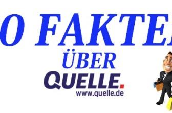 10 Fakten über den QUELLE Online Shop
