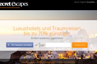 Secret Escapes – Erfahrungen, Test und Bewertung