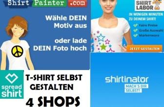 T-Shirt bedrucken lassen – 4 Online Shops
